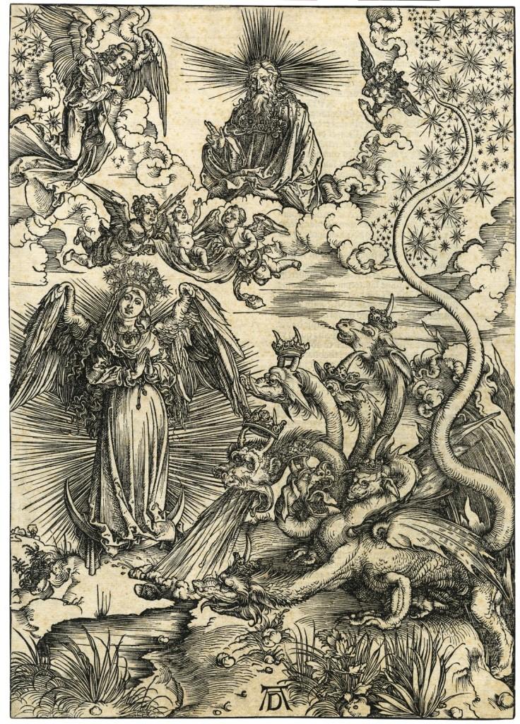 Albrecht Dürer, Apokaliptyczna Niewiasta i diabeł jako ognisty smok
