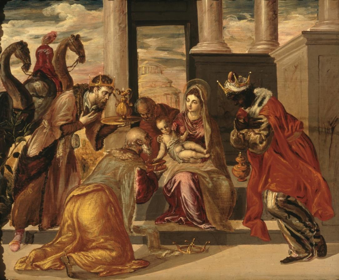 El Greco Pokłon trzech króli, 1568, olej na płótnie