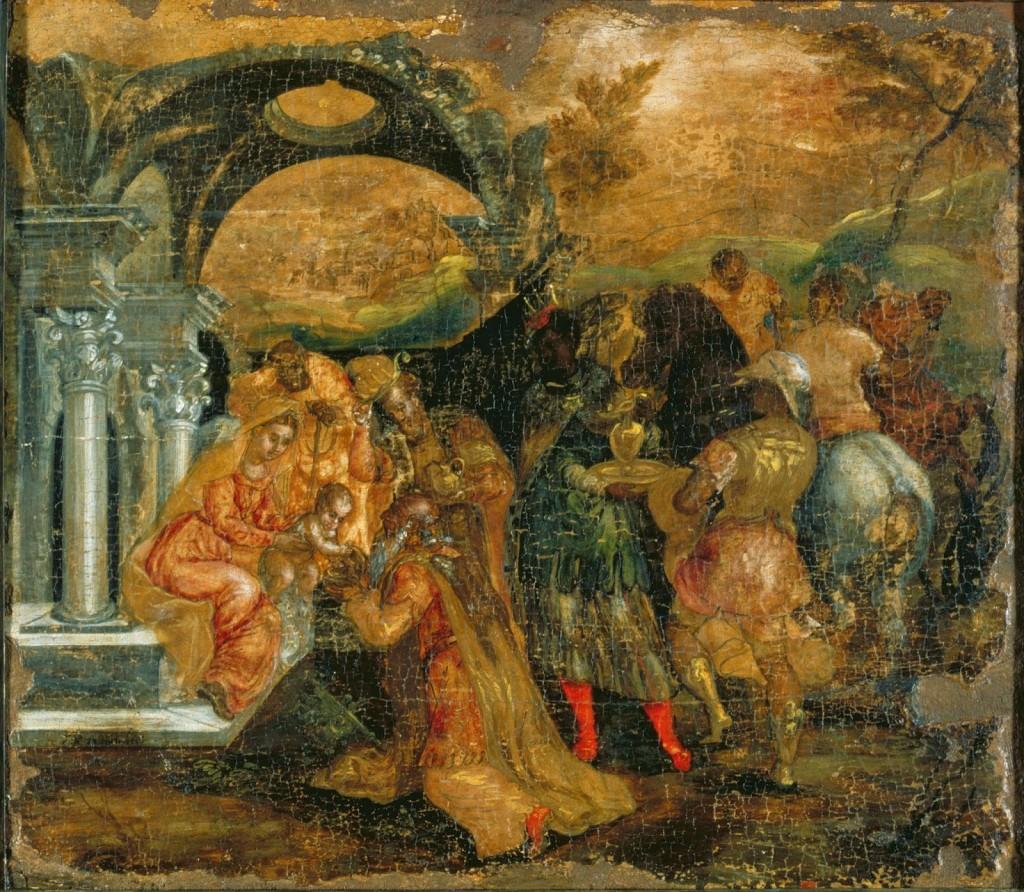 El Greco, manieryzm_ Pokłon trzech króli 1565-1567, ikona, tempera na desce