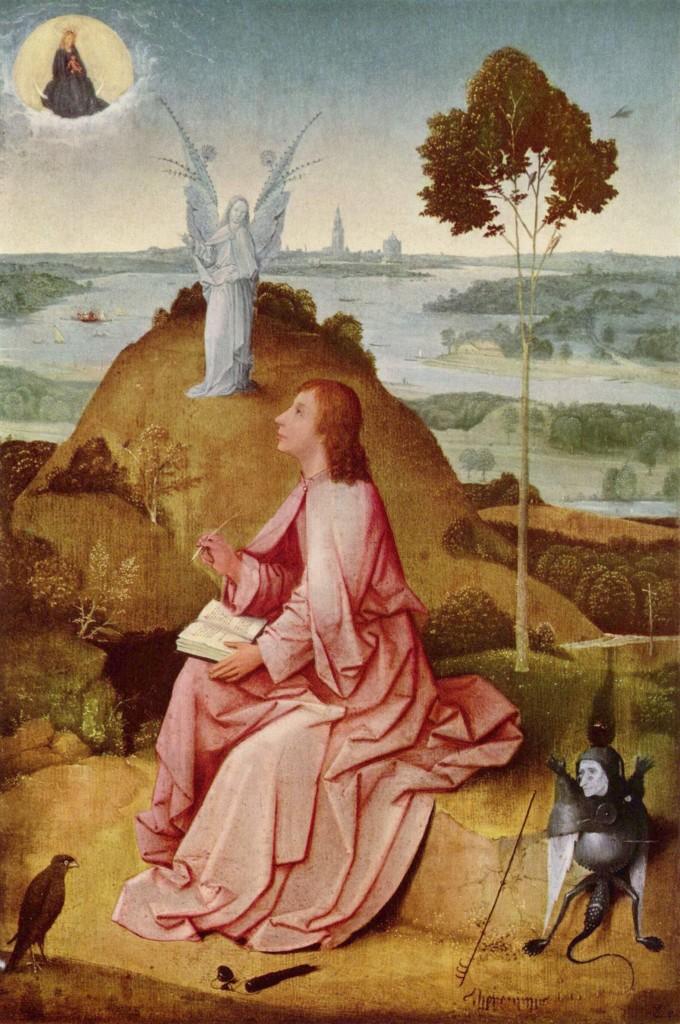Hieronim Bosch obraz święty Jan na Patmos