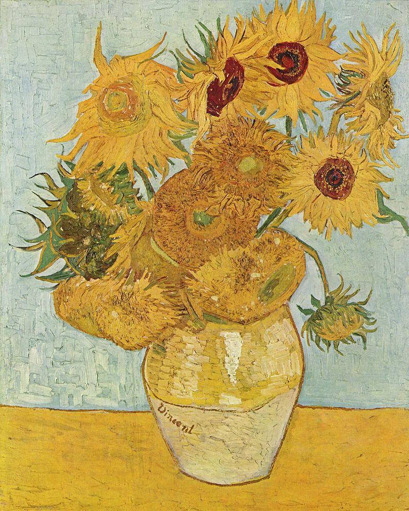 10 najsłynniejszych obrazów świata - vincent van Gogh obraz Słoneczniki