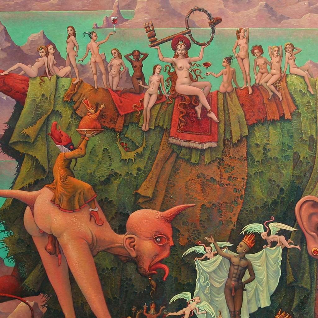 """Jak dokonać analizy i interpretacji obrazu nowoczesnego malarza. Michael Hutter """"Babylon überreicht den Schlüssel zum Abgrund an die Könige der Welt"""""""