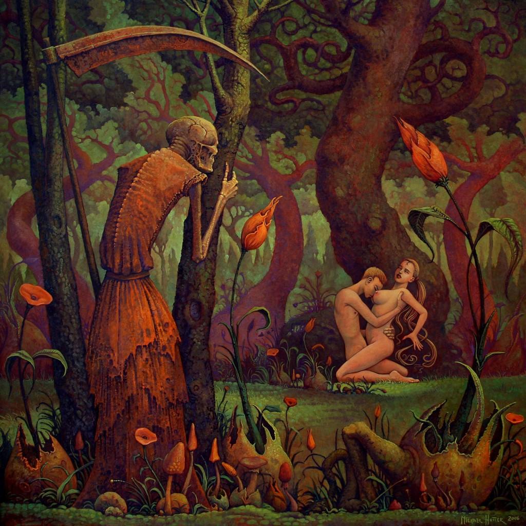 Erotyka i śmierć w malarstwie współczesnym: Michael Hutter