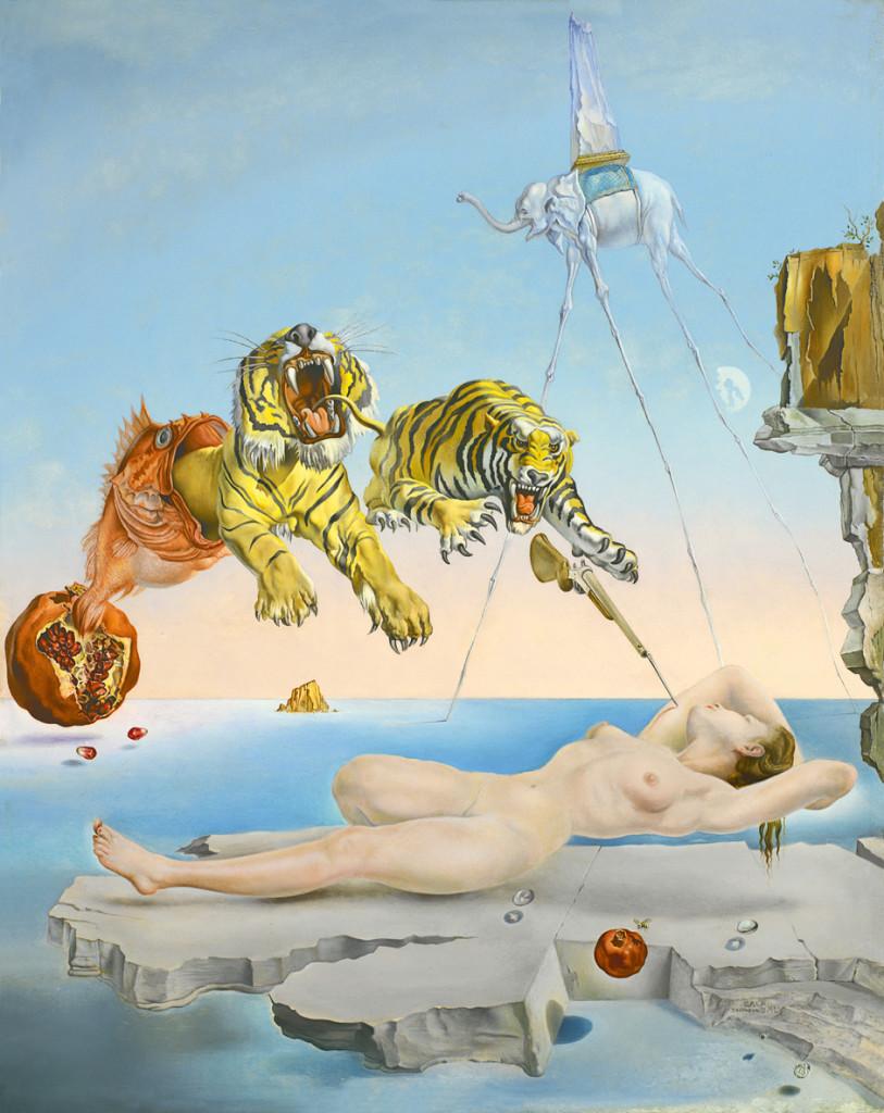 """Salvador Dali, """"Sen wywołany lotem pszczoły"""" fotoobraz na płótnie, obrazy nowoczesne"""