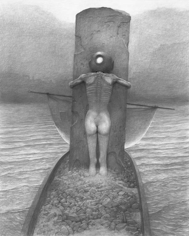 zdzisław_beksinski_rysunki_malarstwo nowoczesne, rysunek 1972-1974