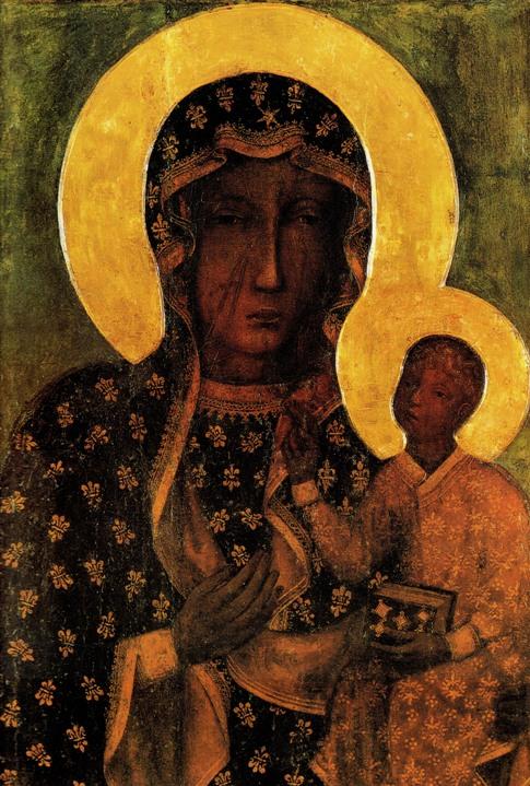 Obraz Matki Boskiej Częstochowskiej Czarna Madonna obrazy olejne malarstwo polskie religijne