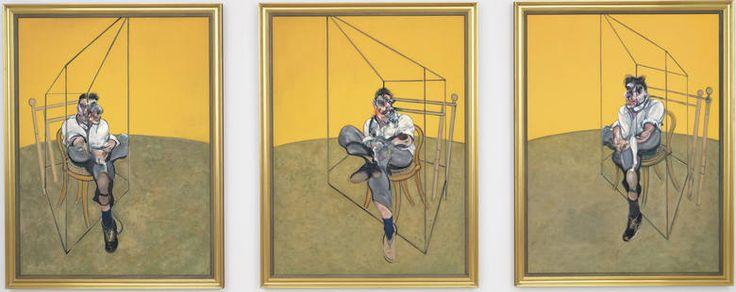 Francis Bacon, tryptyk olejny Trzy studia do portretu Luciana Freuda