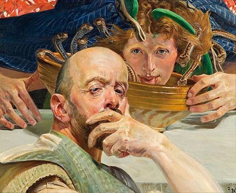 Malczewski Autoportret z Meduzą foto obrazy do pokoju i salonu