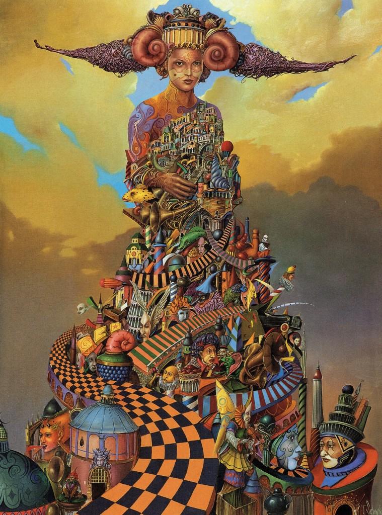 Tomasz Sętowski, magiczny realizm Apokalipsy, nowoczesne obrazy na płótnach