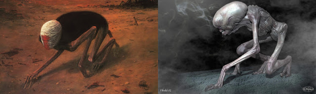 Giger i Beksiński obrazy na sprzedaż giger pełzająca śmierć Obcy ósmy pasażer nostromo