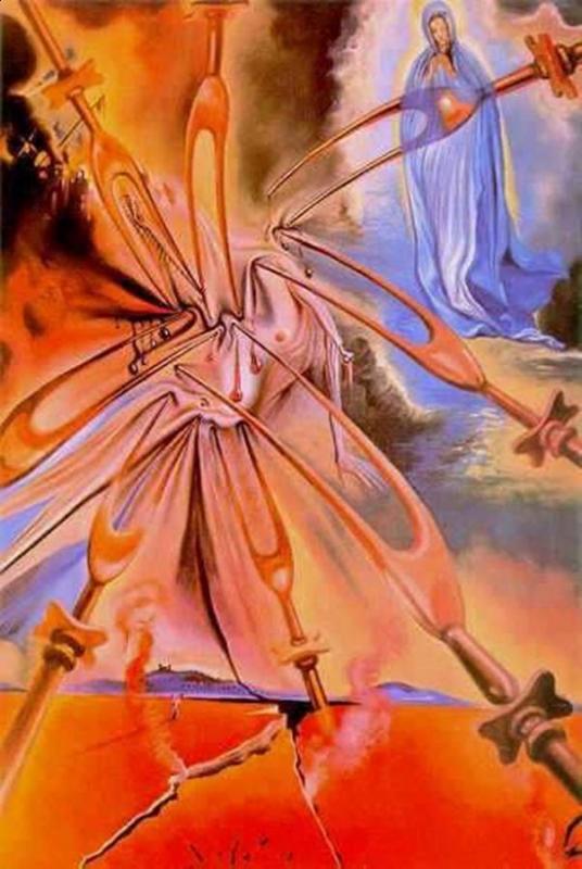 Obraz Salvador Dali Objawienie fatimskie, obraz na płótnie galeria dekoracje do pokoju