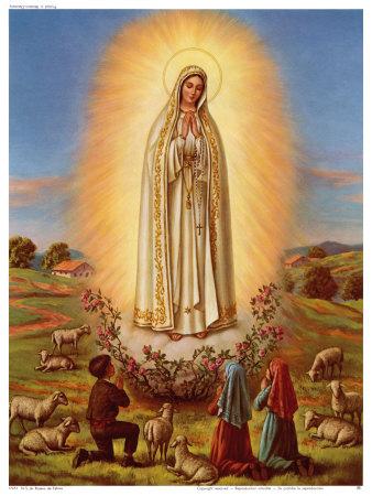Znalezione obrazy dla zapytania obraz matki bożej fatimskiej