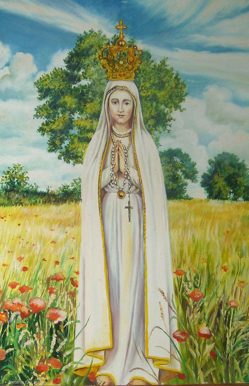 obrazy Matki Bożej Fatimskiej galeria matka boska fatimska obrazy religijne na płótnie do salonu format XXL Kraków