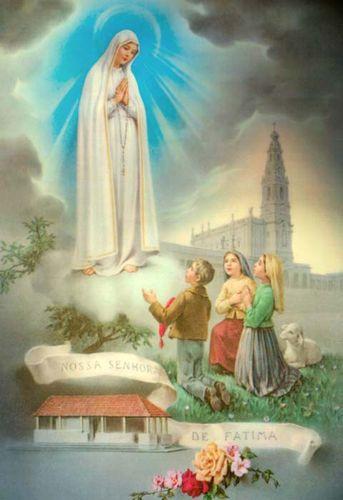 obrazy Matki Bożej Fatimskiej galeria matka boska fatimska obrazy religijne na płótnie do salonu