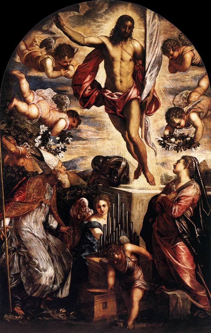 Tintoretto: Zmartwychwstanie Chrystusa, 1565, olej na płótnie