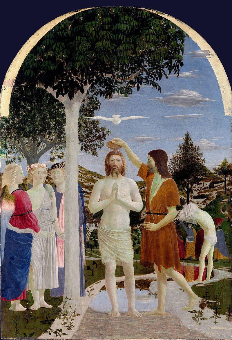 """Obraz """"Chrzest Chrystusa"""" Piero della Francesca"""