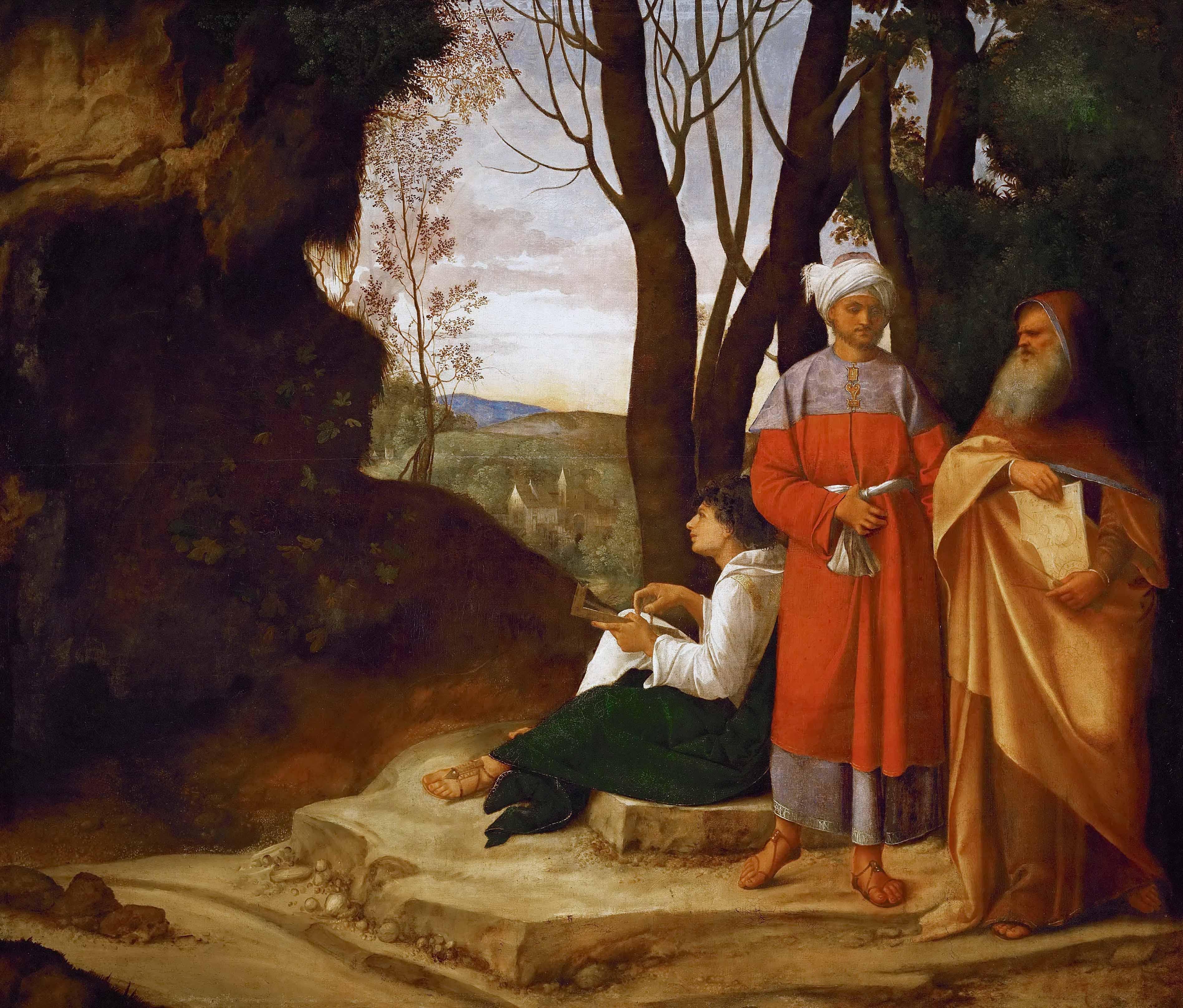 """Obraz Giorgione """"Trzej filozofowie"""", Mikołaj Kopernik obrazy"""