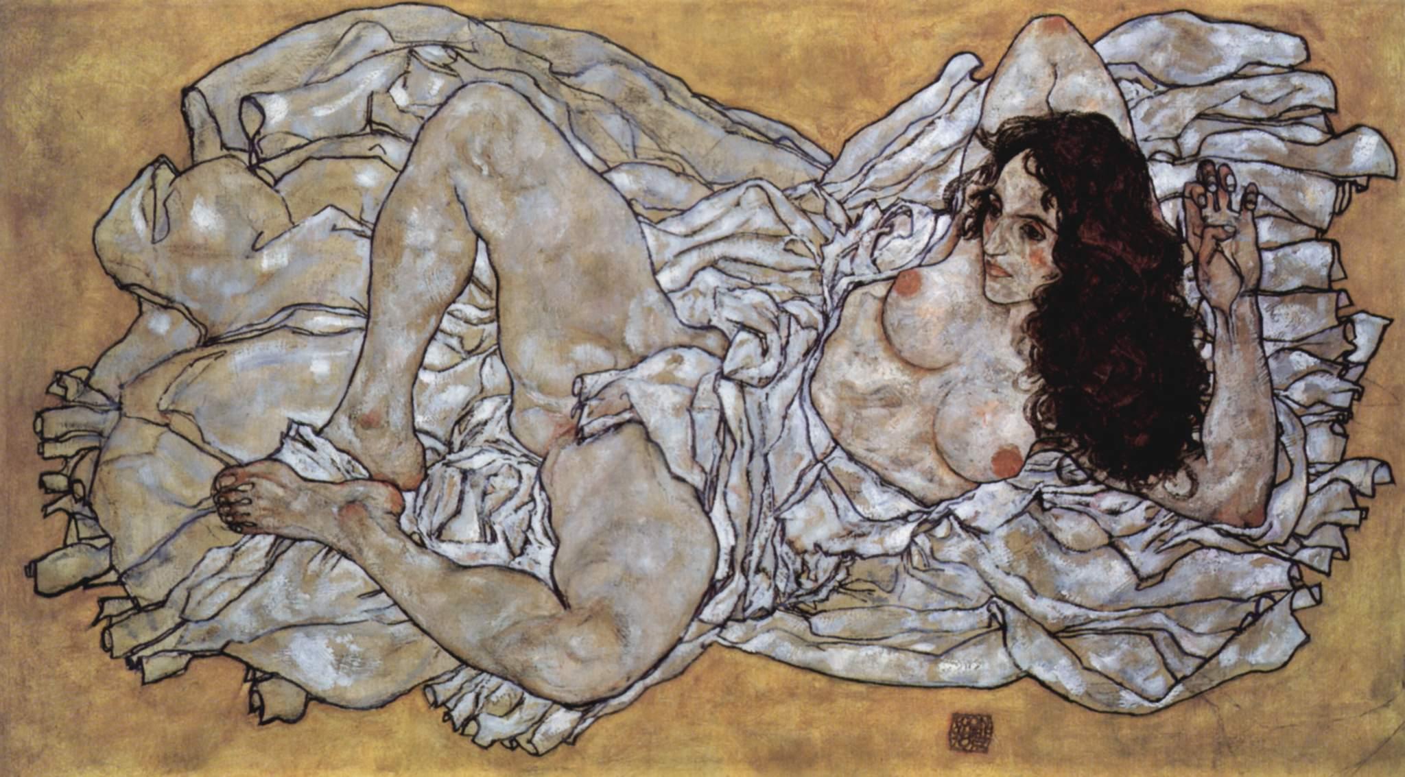 Seks i nagość na obrazach Egona Schiele: Akt kobiecy