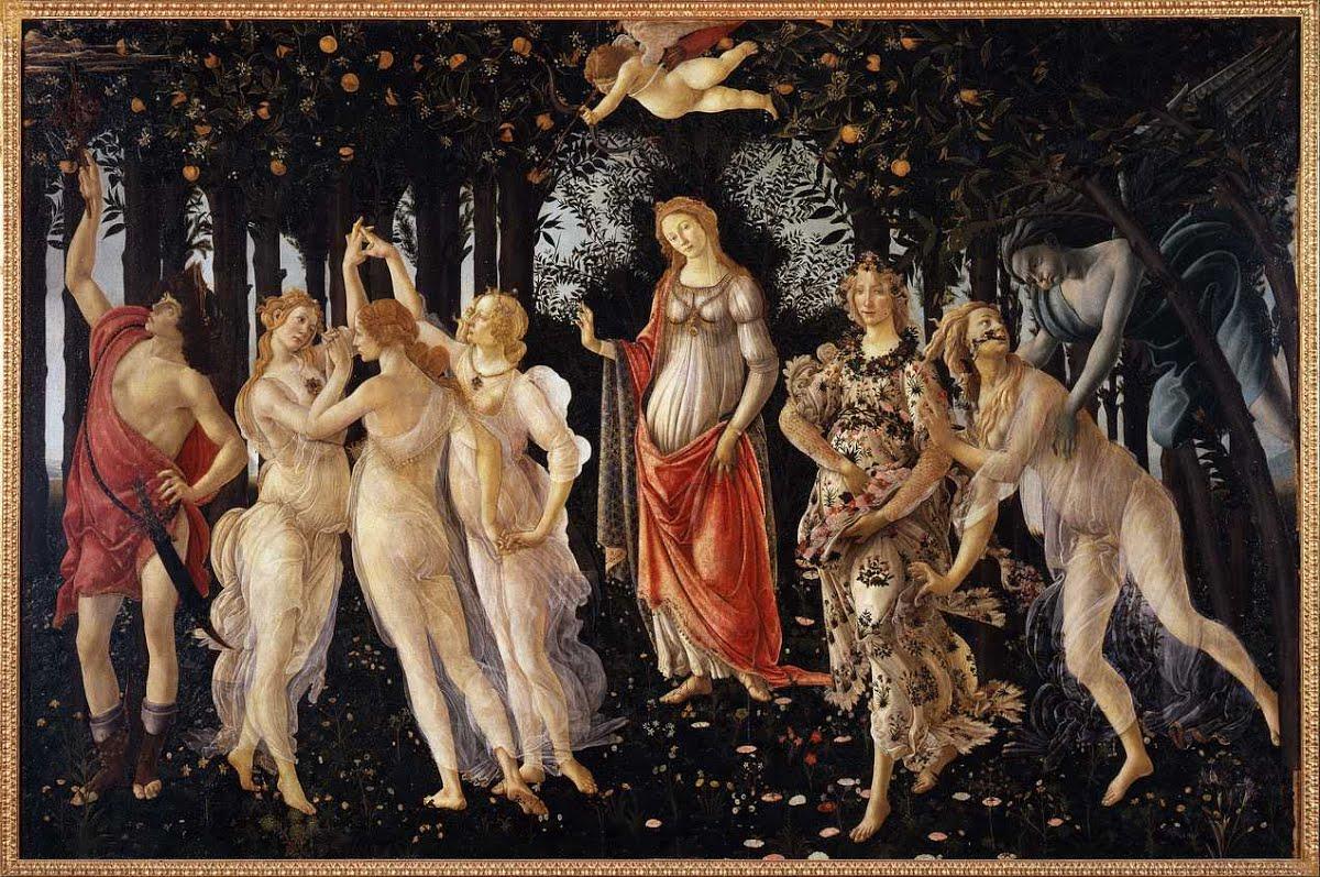 Obraz Wiosna Botticellego ok. 1482, tempera na desce