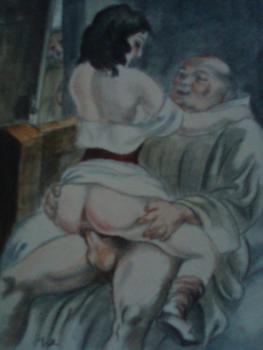 Obrazki erotyczne Berthommé de Saint André, Mnich kopulujący
