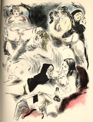 Obrazki erotyczne Berthommé de Saint André, Orgia