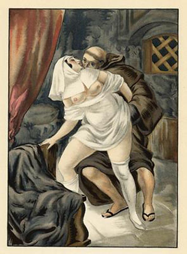 Obrazki erotyczne Berthommé de Saint André, Swawole mnicha i zakonnicy
