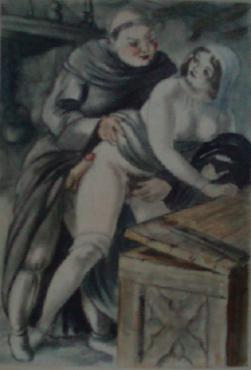 Obrazki erotyczne Berthommé de Saint André, Swawolny mnich