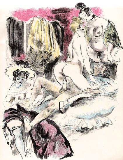 Obrazki erotyczne Berthommé de Saint André, Trzy na jednego