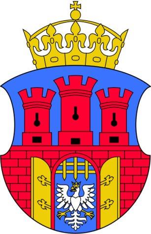 Herb Krakowa na projekcie kurtyny Wyspiańskiego