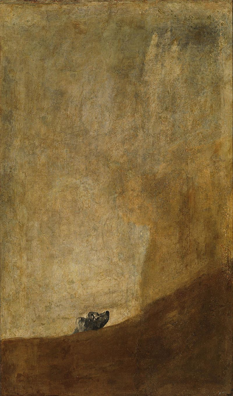 """Czarne obrazy Francisco Goi: """"Pies"""" – 134 × 80 cm"""