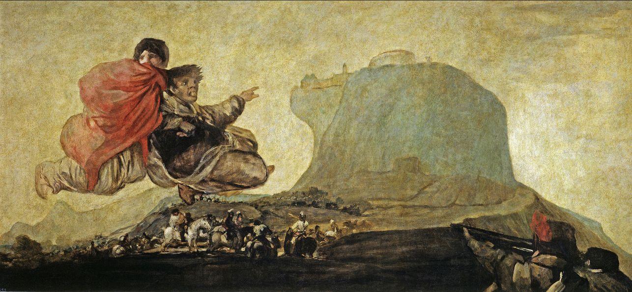"""Czarne obrazy Francisco Goi, """"Asmodeusz"""", 123 x 265 cm"""