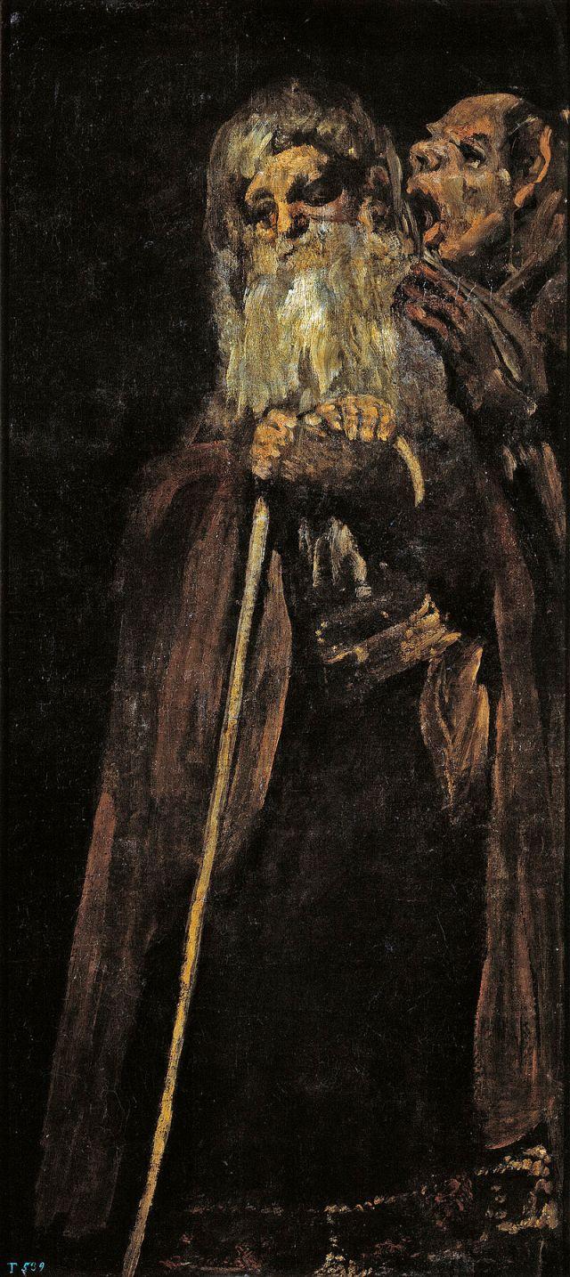 """Czarne obrazy Francisco Goi: """"Dwaj starcy"""" – 144 × 66 cm"""