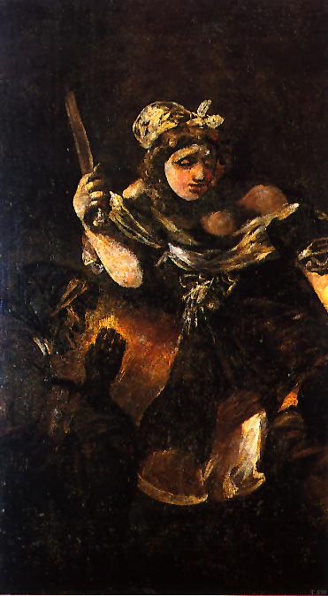 """Czarne obrazy Francisco Goi: """"Judyta i Holofernes"""" – 146 × 84 cm"""