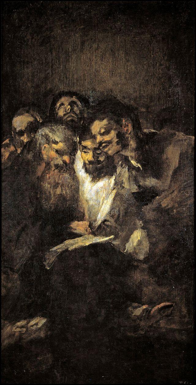 "Czarne obrazy Francisco Goi: ""Lektura"" – 126 x 66 cm"