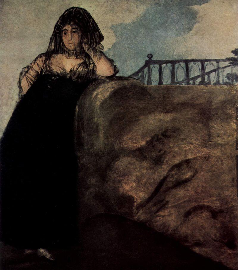 """Czarne obrazy Francisco Goi: """"Leokadia Zorilla, służąca artysty"""" – 147 × 132 cm"""