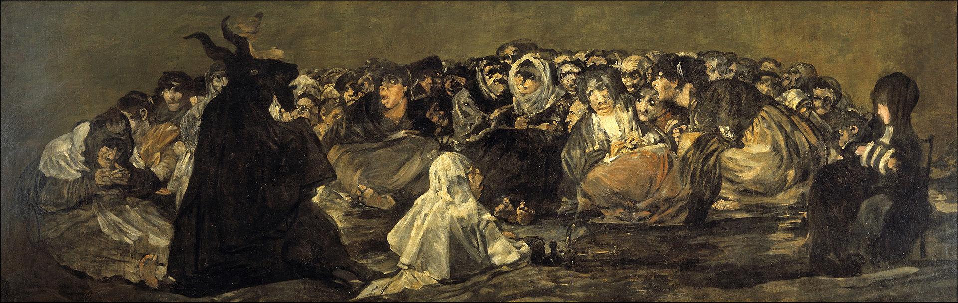 """Czarne obrazy Francisco Goi: """"Sabat czarownic"""" – 140 × 438 cm"""
