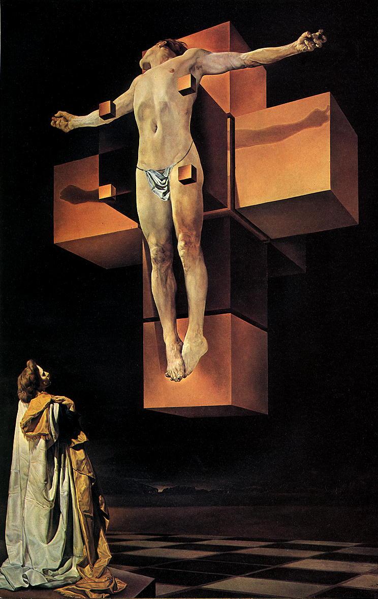 """Obraz """"Ukrzyżowanie"""" Salvadora Dali (Corpus hypercubus)"""