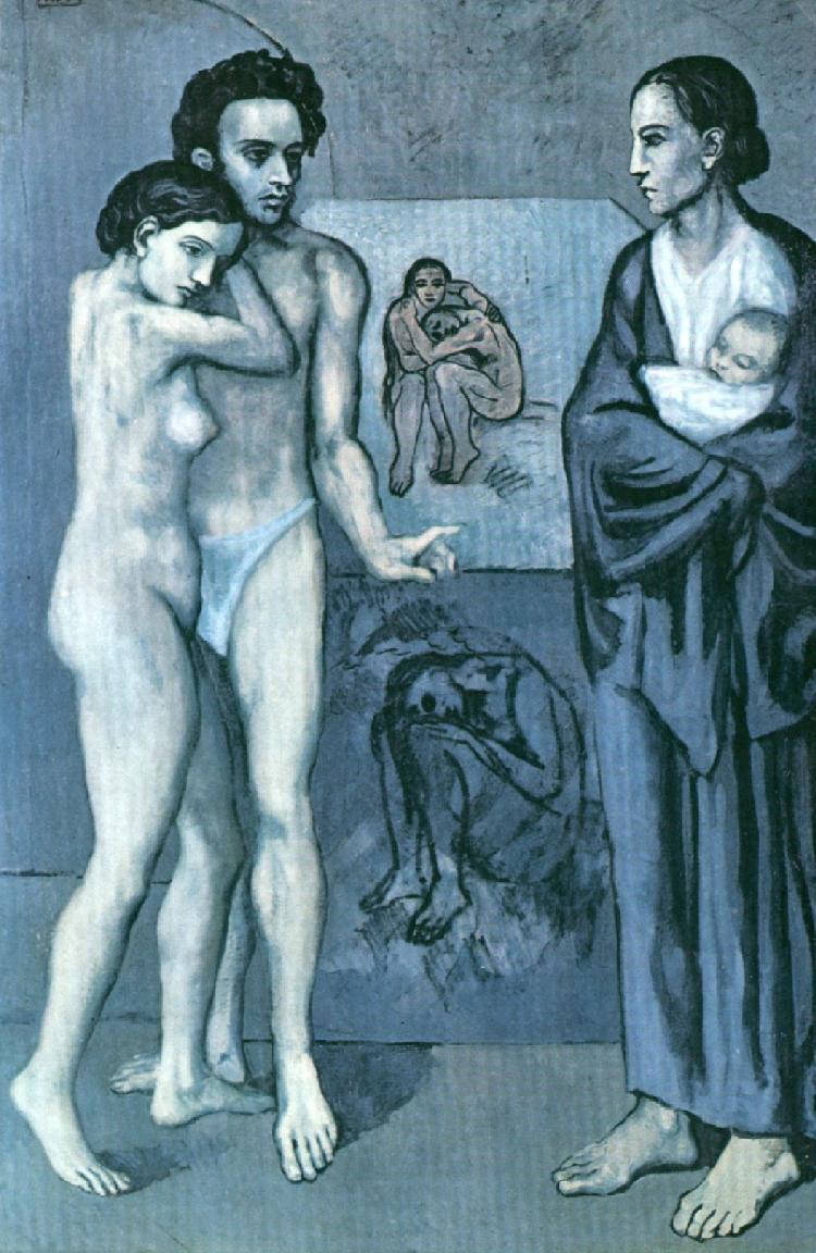 """Obraz """"Życie"""" Pabla Picassa, 1903, olej na płótnie"""