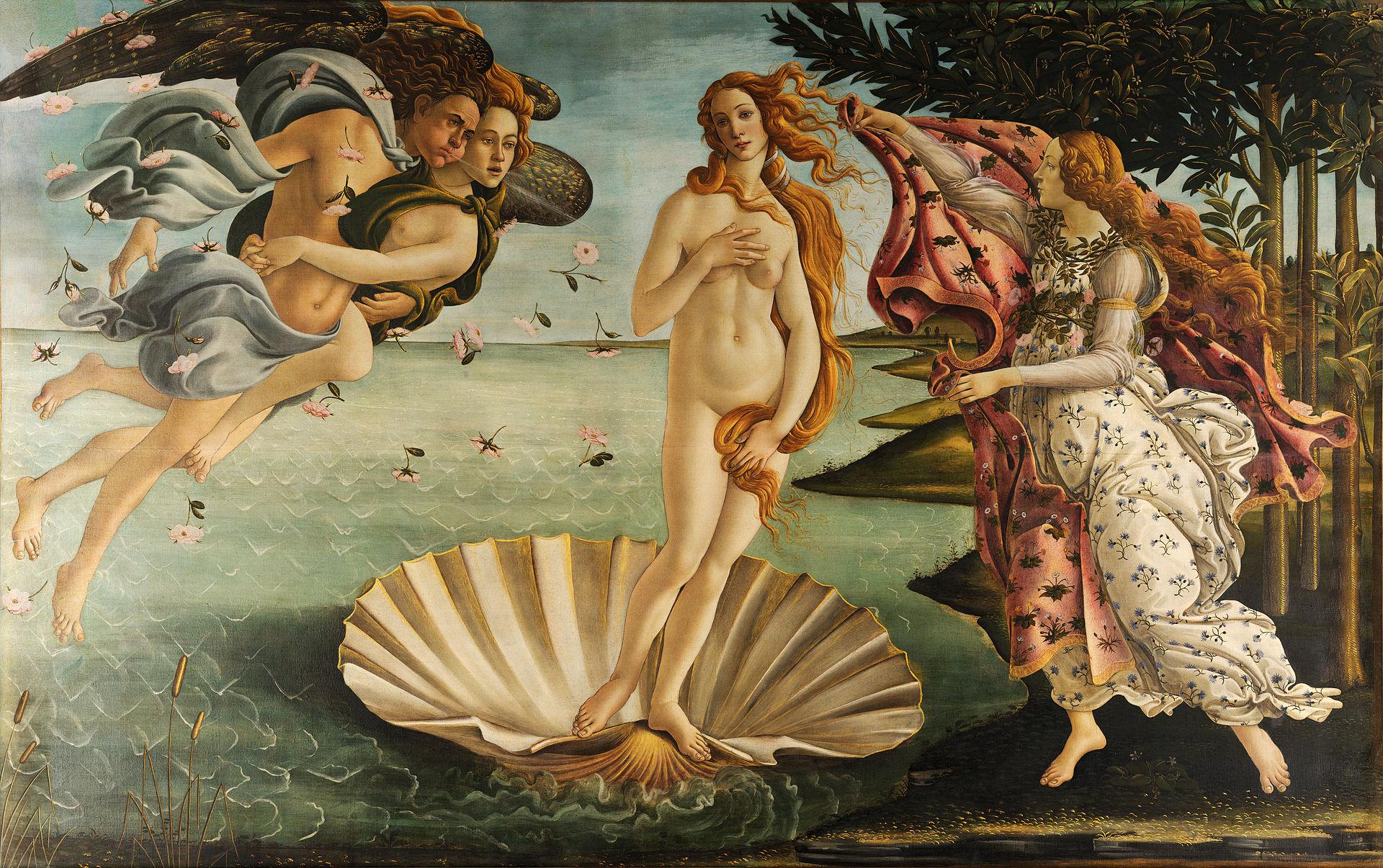 10 najsłynniejszych obrazów świata - Sandro Botticelli Narodziny Wenus