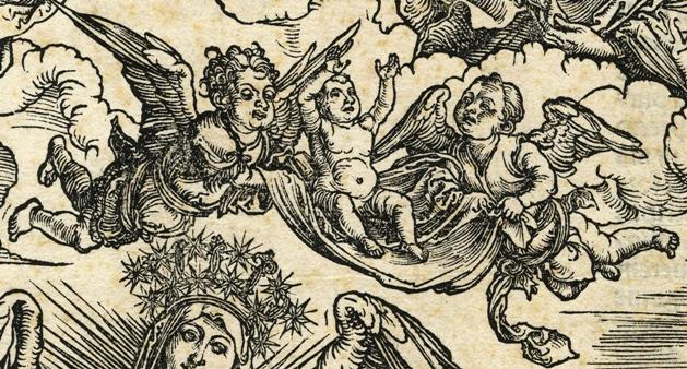 Apocalypsis cum figuris Dürera – Apokaliptyczna Niewiasta, fragment: Dziecko Niewiasty