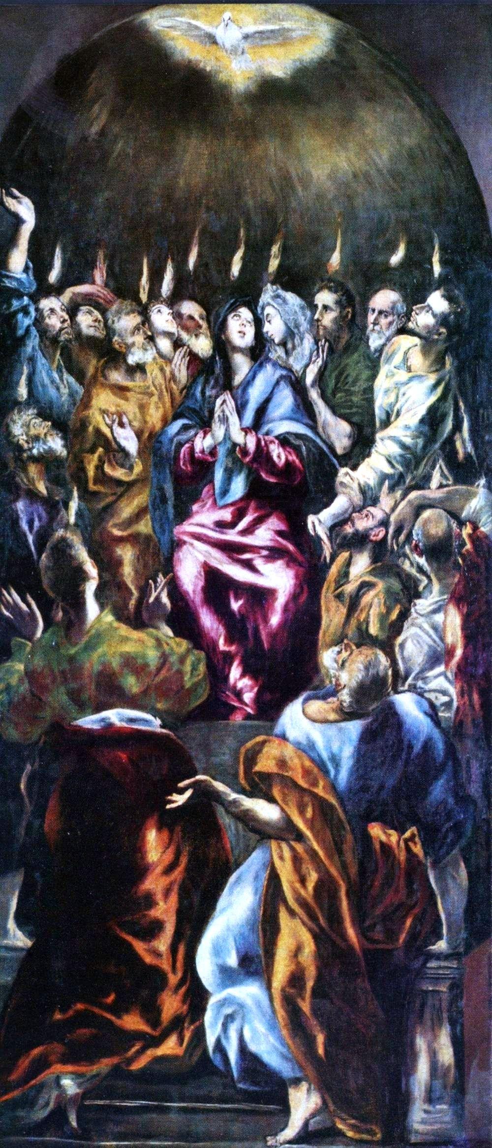 Zesłanie Ducha Świętego na obrazie El Greca, 1596-1600, olej na płótnie, 275 x 127 cm, Prado