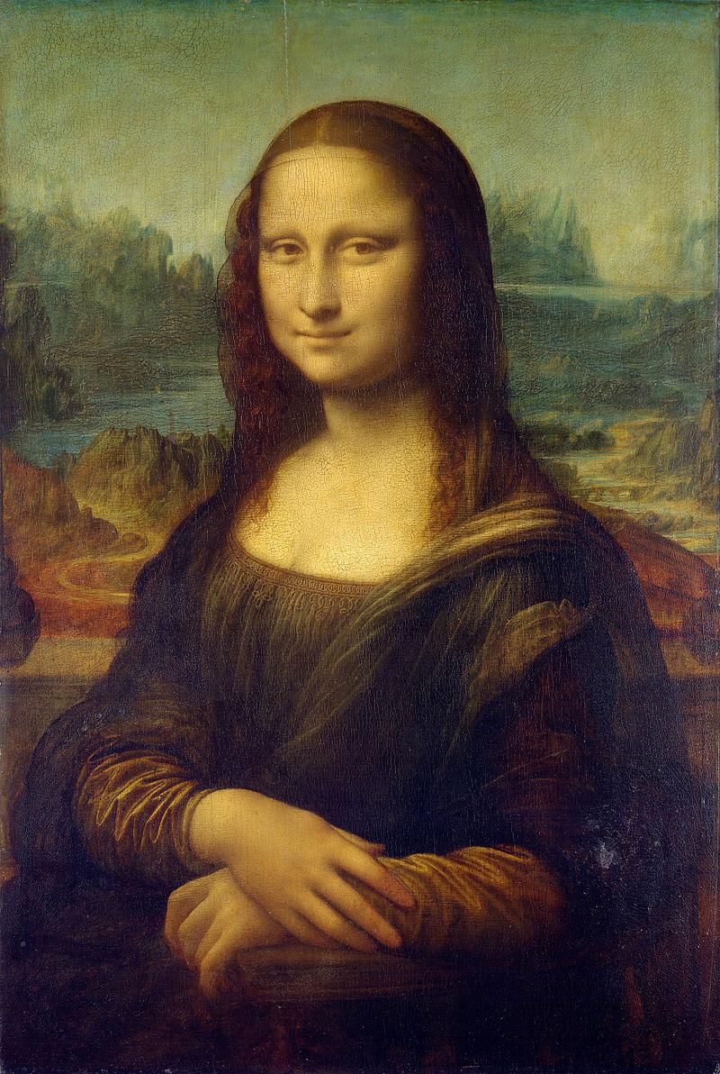 Mona Lisa czyli jak zdobyć kobietę, obraz Leonarda da Vinci, 1503 – 1506, olej na desce, 53 x 77 cm, Musée du Louvre