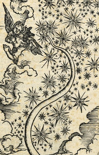 Apocalypsis cum figuris Dürera – Apokaliptyczna Niewiasta, fragment: koniec smoczego ogona