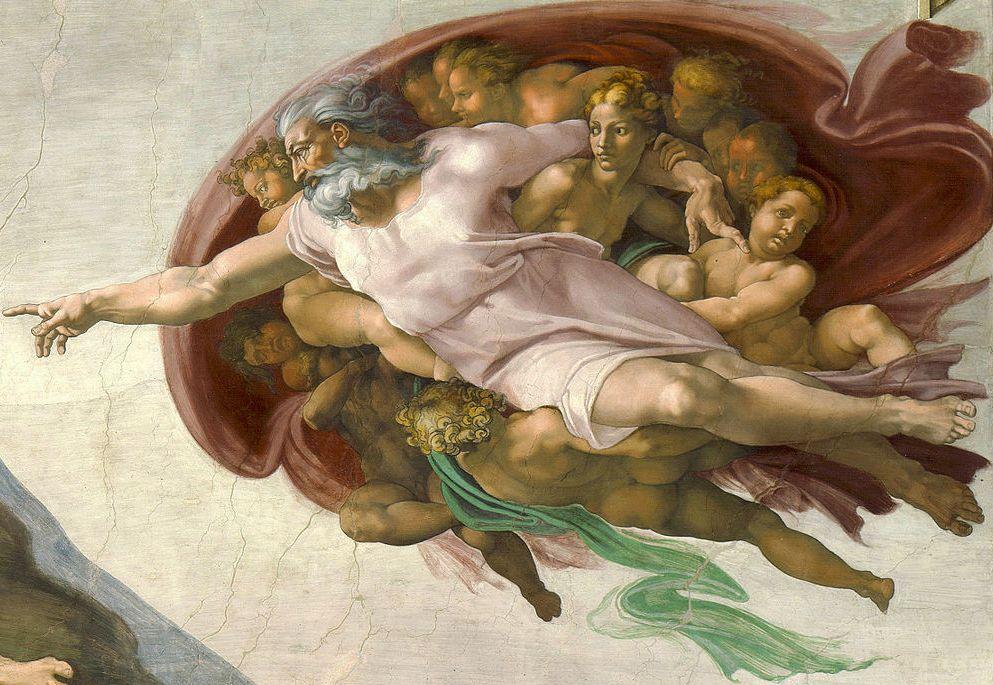 Stworzenie Adama Michała Anioła, fragment