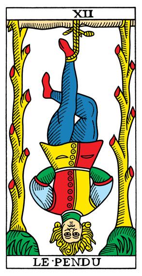 CBD Tarot de Marseille (Nicholas Conver 1760 - Yoav Ben-Dov, 2010), XII Wisielec
