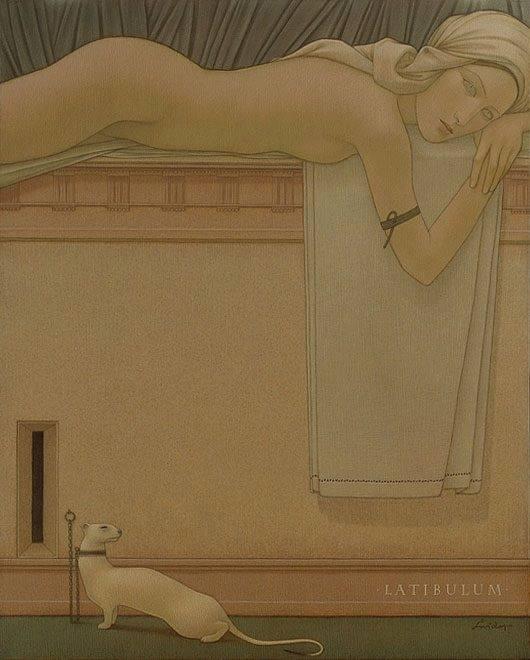 Michał Świder – malarstwo. Latibulum (Kryjówka), 81 x 65 cm.