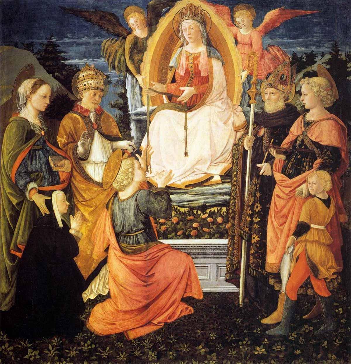 Fra Filippo Lippi, Madonna daje cudowny pasek świętemu Tomaszowi