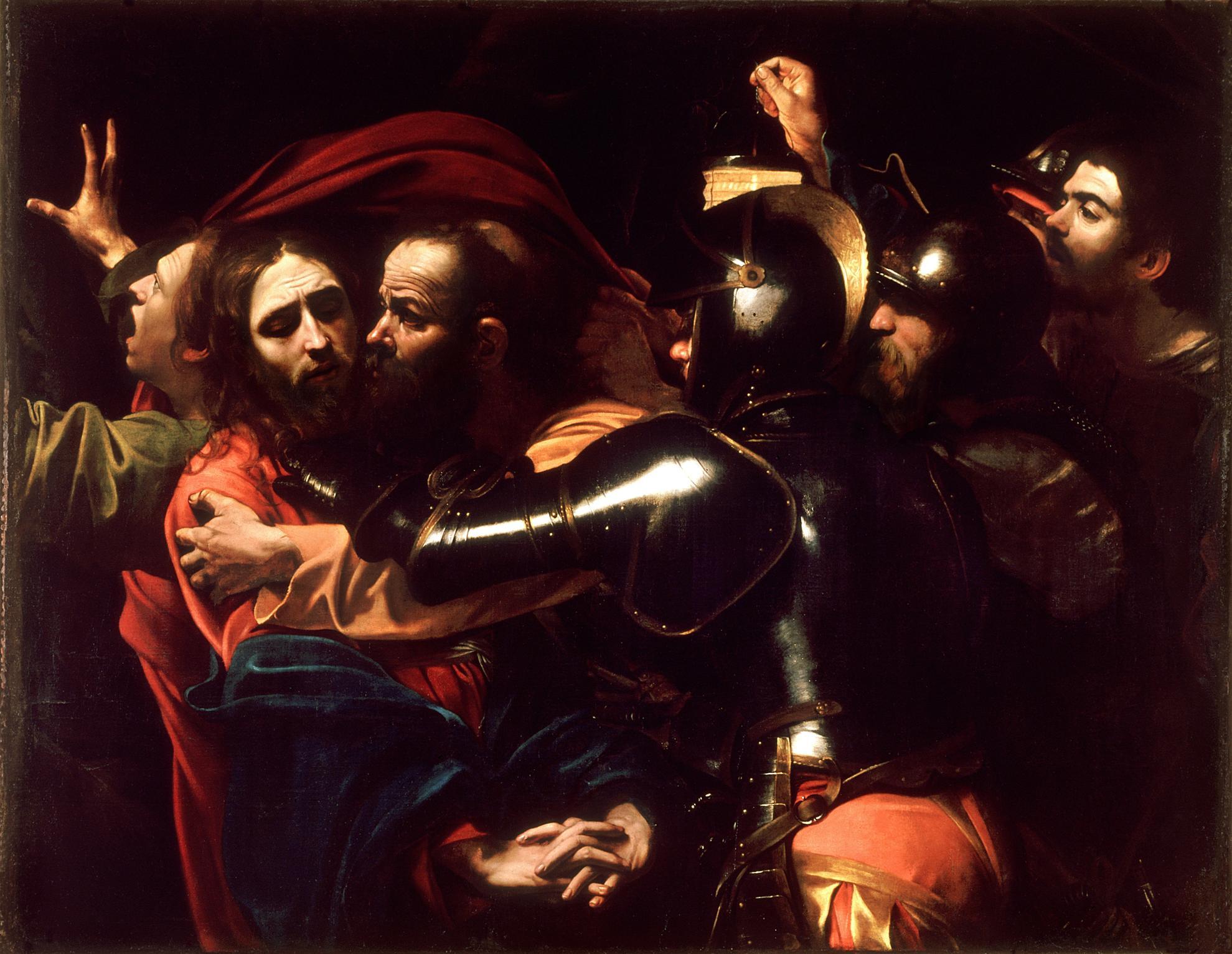 Prywatne życie arcydzieł BBC – Caravaggio, Pojmanie Chrystusa (lub Pocałunek Judasza), 1602, olej na płótnie, 133,5 x 169,5 cm