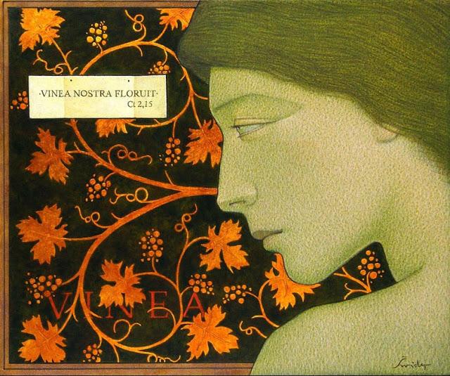 Michał Świder – malarstwo. Winnica, 25 x 30 cm