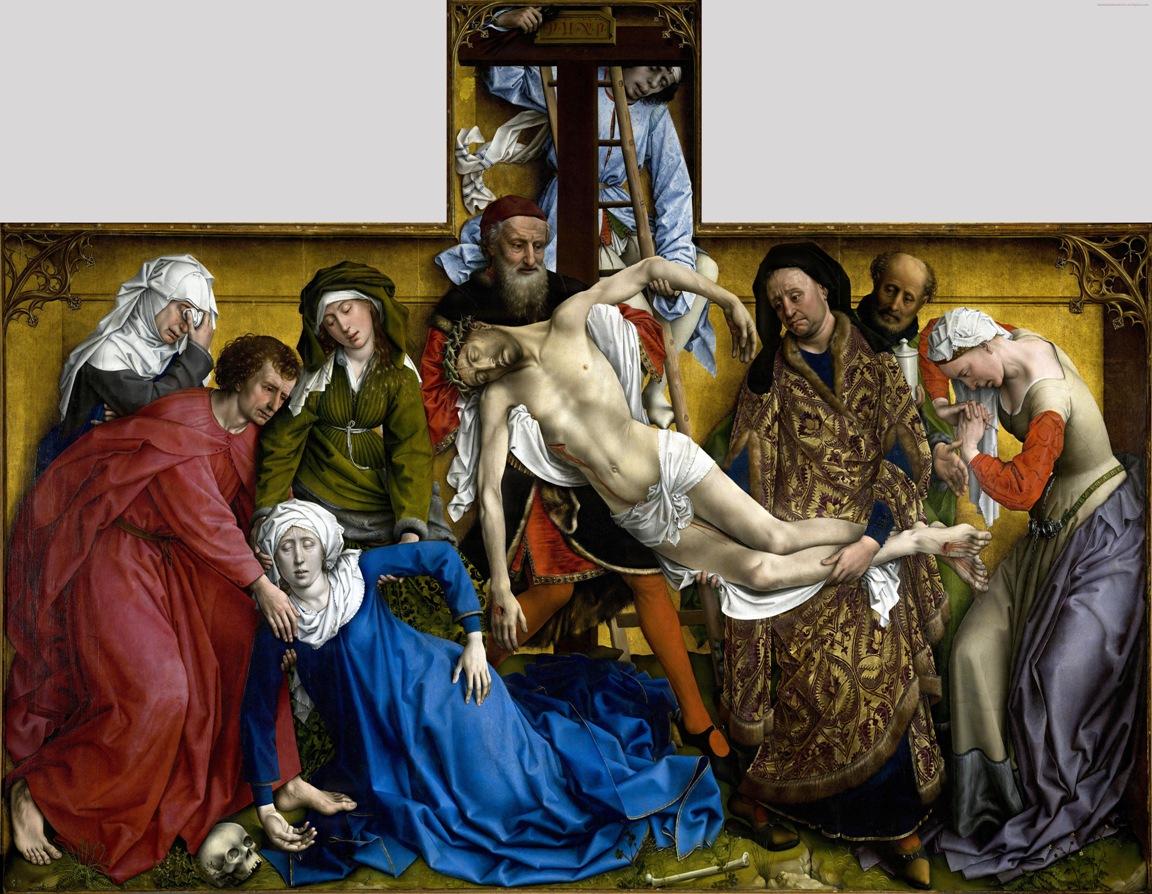 Prywatne życie arcydzieł TVP Kultura – Rogier van der Weyden, Zdjęcie z krzyża, ok. 1435, olej na desce, 220 x 262 cm, Prado, Madryt